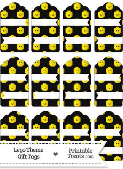 Black Lego Theme Gift Tags from PrintableTreats.com