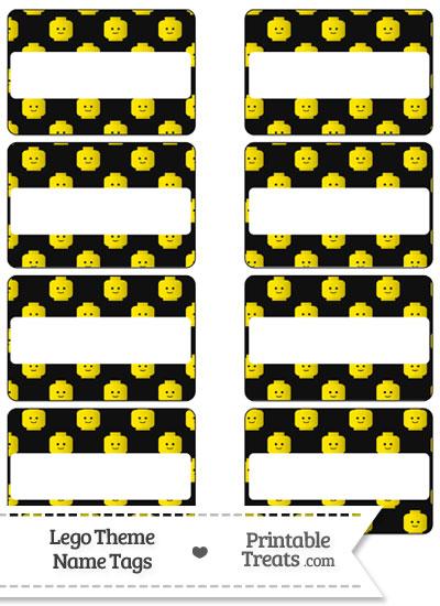 Black Lego Theme Name Tags from PrintableTreats.com
