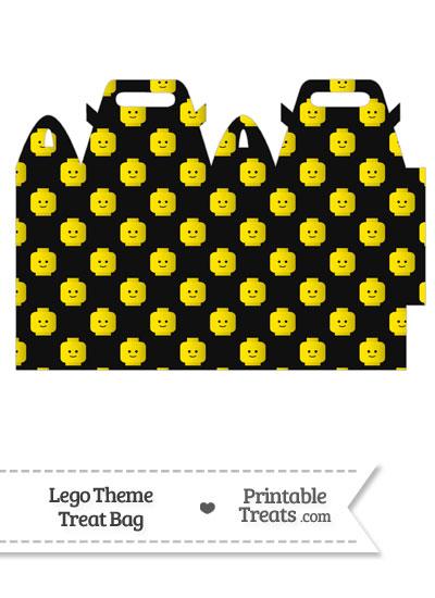 Black Lego Theme Treat Bag from PrintableTreats.com