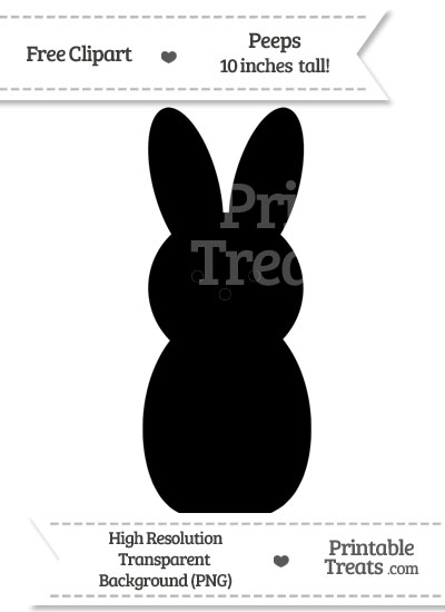 Black Peeps Clipart from PrintableTreats.com