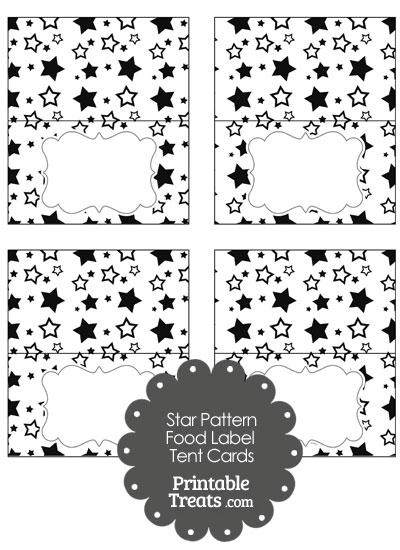 Black Star Pattern Food Labels from PrintableTreats.com
