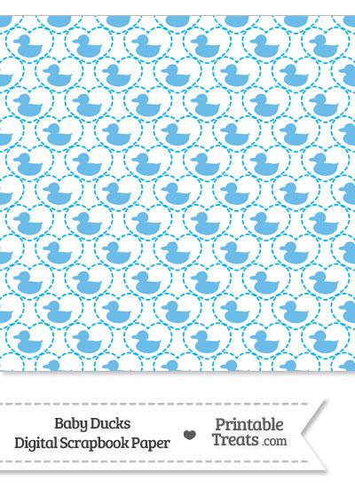 Blue Baby Ducks Digital Scrapbook Paper from PrintableTreats.com