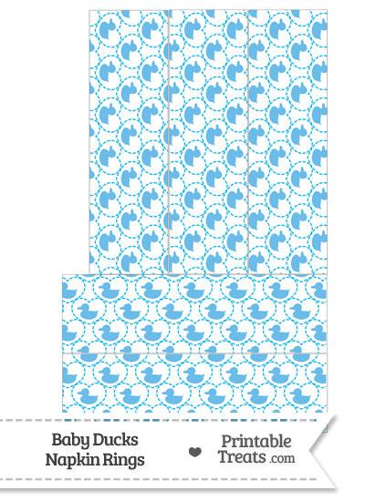 Blue Baby Ducks Napkin Rings from PrintableTreats.com