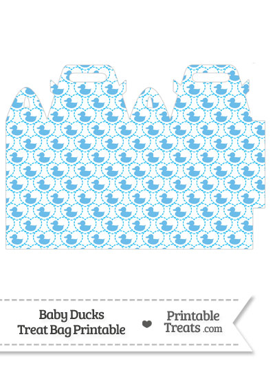 Blue Baby Ducks Treat Bag from PrintableTreats.com
