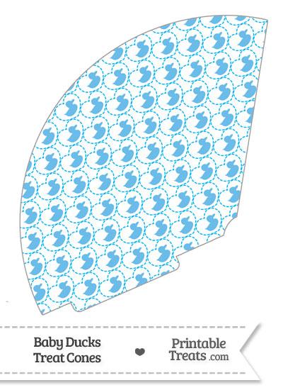 Blue Baby Ducks Treat Cone from PrintableTreats.com