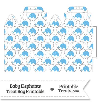 Blue Baby Elephants Treat Bag from PrintableTreats.com