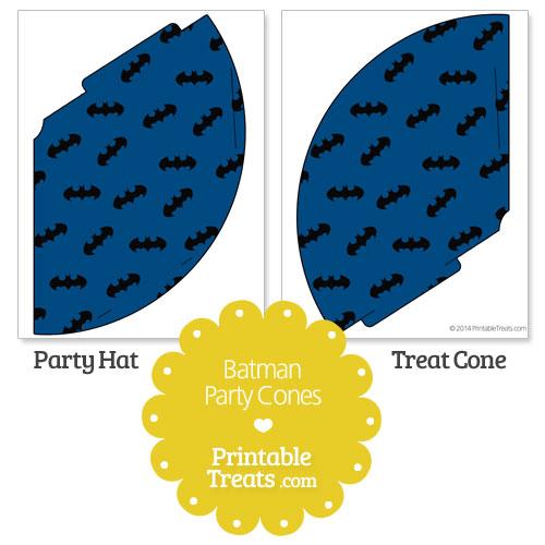 blue Batman party cones