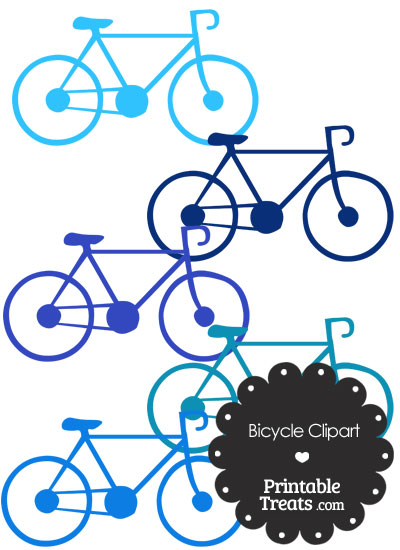 Blue Bicycle Clipart from PrintableTreats.com