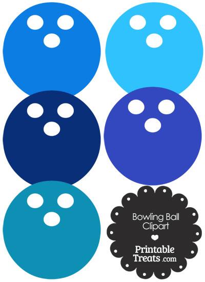 Blue Bowling Ball Clipart from PrintableTreats.com