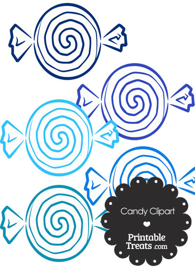 Blue Candy Clipart from PrintableTreats.com