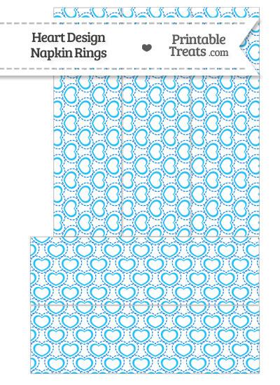 Blue Heart Design Napkin Rings from PrintableTreats.com
