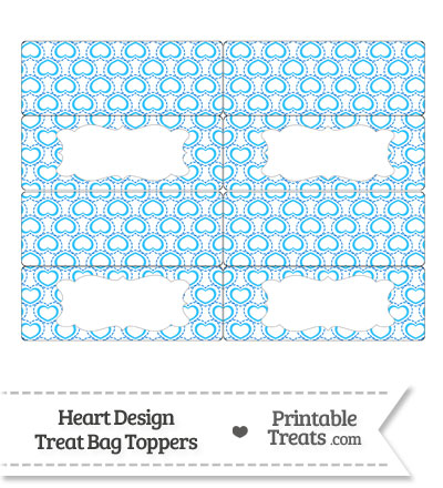 Blue Heart Design Treat Bag Toppers from PrintableTreats.com