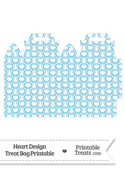 Blue Heart Design Treat Bag from PrintableTreats.com