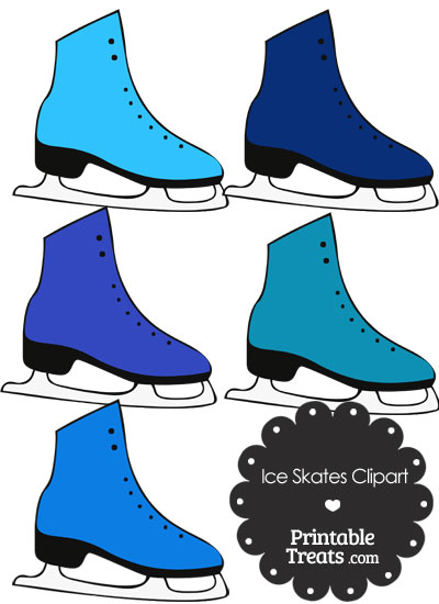 Blue Ice Skates Clipart from PrintableTreats.com