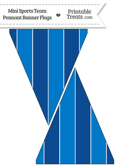 Blue Jays Colors Mini Pennant Banner Flags from PrintableTreats.com