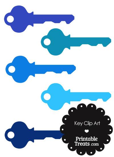 Blue Key Clipart from PrintableTreats.com