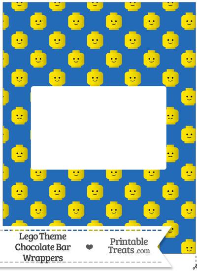 Blue Lego Theme Chocolate Bar Wrappers from PrintableTreats.com
