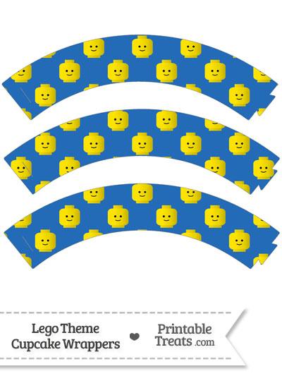 Blue Lego Theme Cupcake Wrappers from PrintableTreats.com