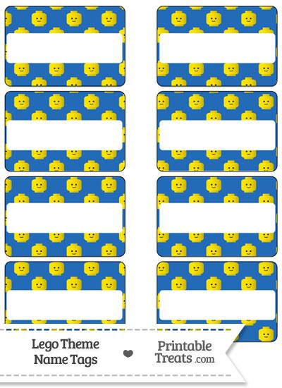 Blue Lego Theme Name Tags from PrintableTreats.com