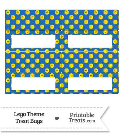Blue Lego Theme Treat Bag Toppers from PrintableTreats.com