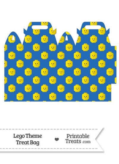 Blue Lego Theme Treat Bag from PrintableTreats.com