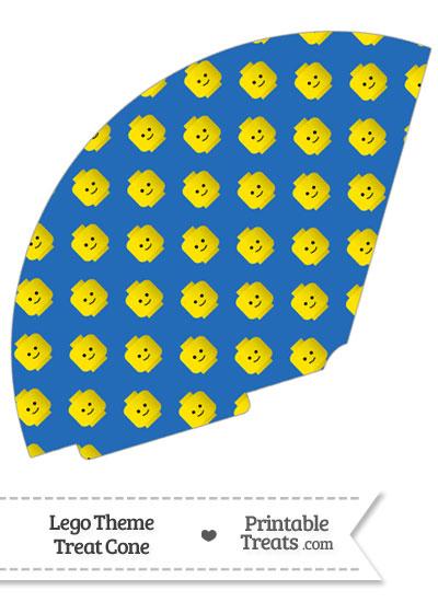 Blue Lego Theme Treat Cone from PrintableTreats.com