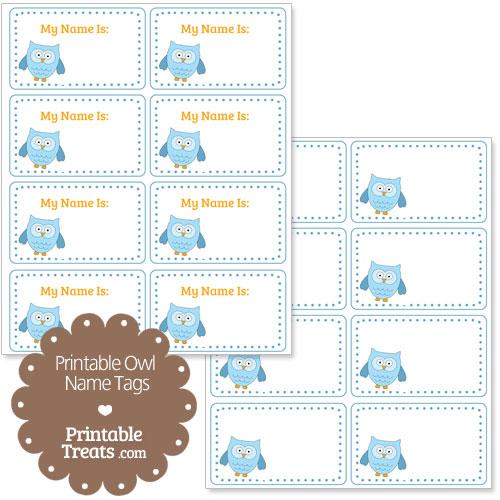 blue owl name tags