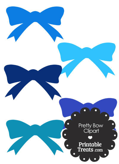 Blue Pretty Bow Clipart from PrintableTreats.com