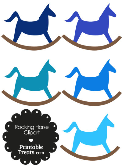 Blue Rocking Horse Clipart from PrintableTreats.com