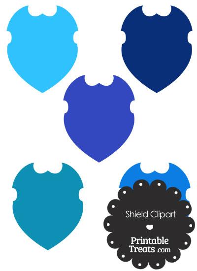 Blue Shield Clipart from PrintableTreats.com