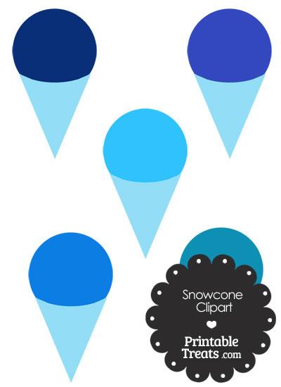 Blue Snow Cone Clipart from PrintableTreats.com