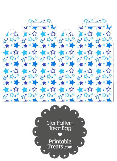Blue Star Pattern Treat Bag from PrintableTreats.com