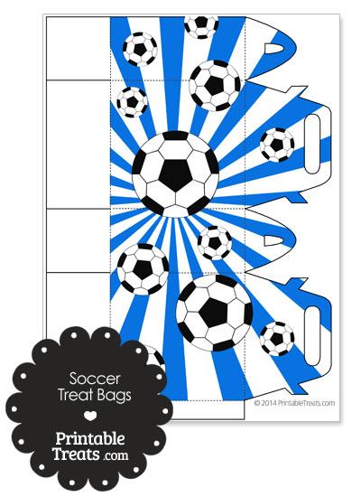 Blue Sunburst Soccer Party Treat Bags from PrintableTreats.com