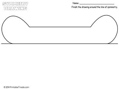 bone symmetry drawing worksheet