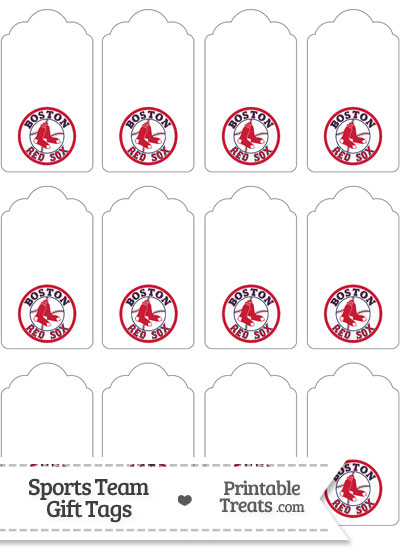 Boston Red Sox Gift Tags from PrintableTreats.com