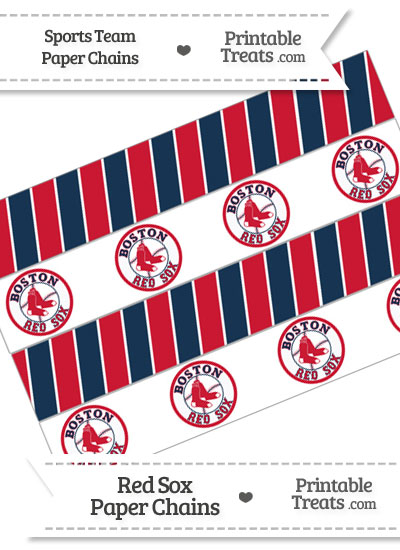 Boston Red Sox Paper Chains from PrintableTreats.com