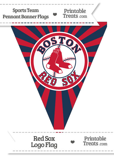 Boston Red Sox Pennant Banner Flag from PrintableTreats.com