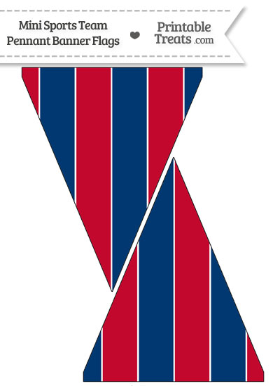 Braves Colors Mini Pennant Banner Flags from PrintableTreats.com