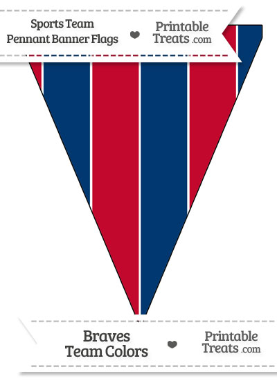Braves Colors Pennant Banner Flag from PrintableTreats.com