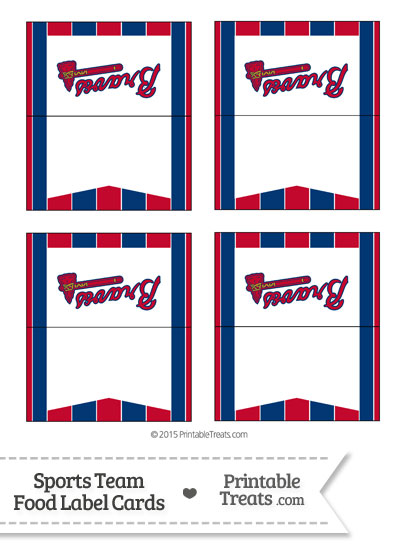 Braves Food Label Buffet Cards from PrintableTreats.com