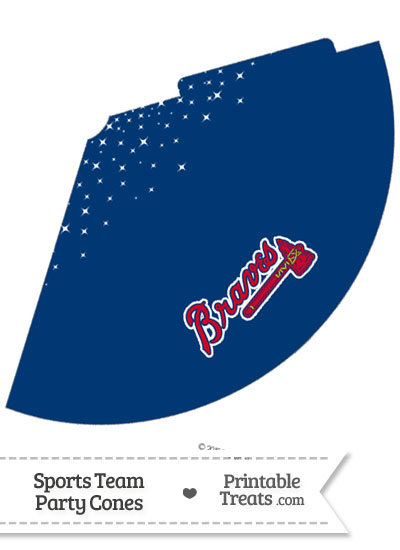 Braves Party Cone Printable from PrintableTreats.com