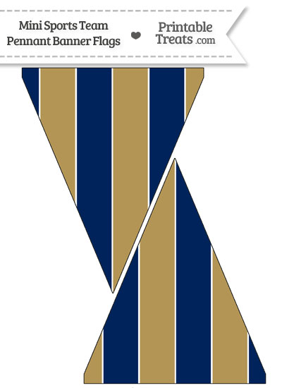 Brewers Colors Mini Pennant Banner Flags from PrintableTreats.com