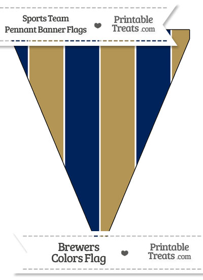 Brewers Colors Pennant Banner Flag from PrintableTreats.com