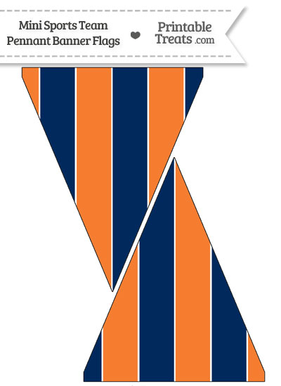Broncos Colors Mini Pennant Banner Flags from PrintableTreats.com