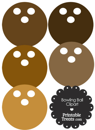 Brown Bowling Ball Clipart from PrintableTreats.com