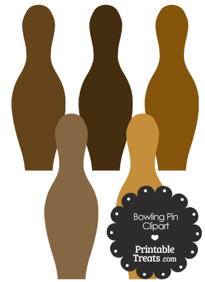 Brown Bowling Pin Clipart from PrintableTreats.com