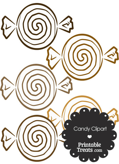 Brown Candy Clipart from PrintableTreats.com