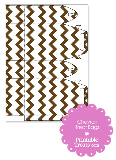 Brown Chevron Treat Bags to Print from PrintableTreats.com