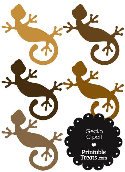 Brown Gecko Clipart from PrintableTreats.com
