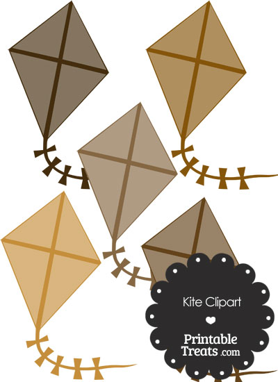 Brown Kite Clipart from PrintableTreats.com